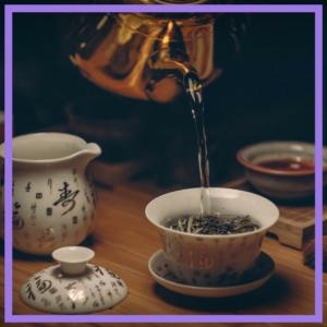 geniet van een kopje thee